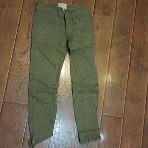Current/Elliot Olive Skinny Jeans